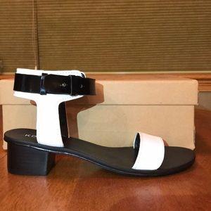 Black/White Sandals